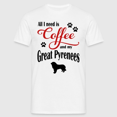 Great Pyrenæerne Kaffe - Herre-T-shirt