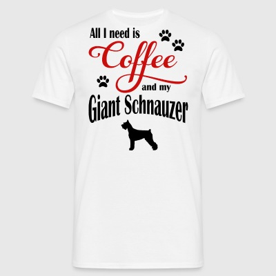 Giant Schnauzer Coffee - Men's T-Shirt