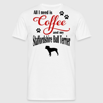 Staffordshire Bull Terrier Coffee - T-skjorte for menn