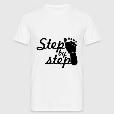 step by step - Men's T-Shirt