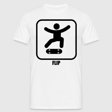skateboard sign flip - Men's T-Shirt