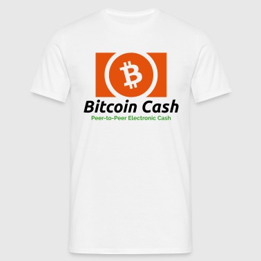 Bitcoin Cash (Logo) Peer-to-Peer Electronic Cash - Men's T-Shirt