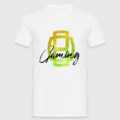 OB Gaming / Sort bogstaver - Herre-T-shirt