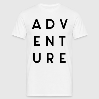 Adventure Travel Quote  - Men's T-Shirt