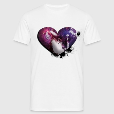 splatter heart - Men's T-Shirt