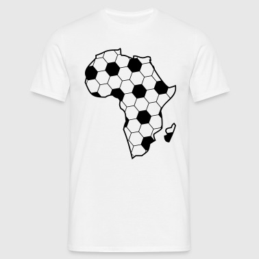 Africa as a continent of black football  - Men's T-Shirt