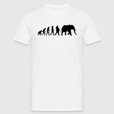 Evolution Elephant - Männer T-Shirt