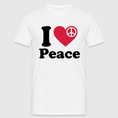 I love peace  * Peace movement sign  - Men's T-Shirt
