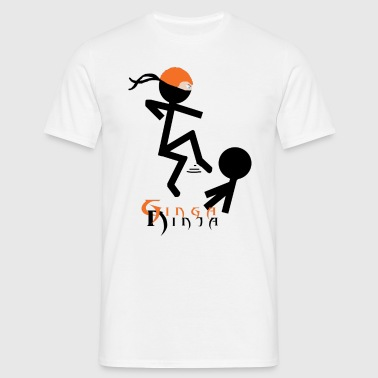 Ginga Ninja Flying Kick - Men's T-Shirt