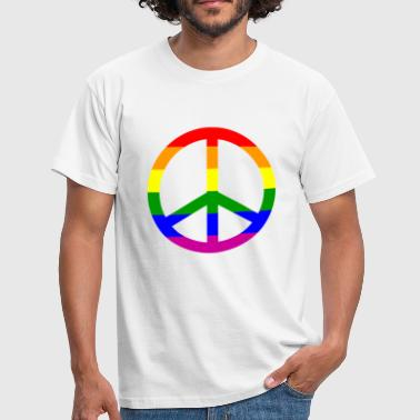 gay peace rainbow - Männer T-Shirt