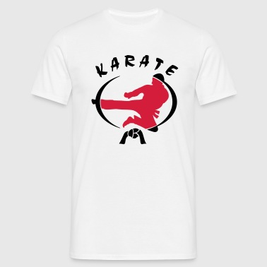 Karate-Flyingkick - Männer T-Shirt