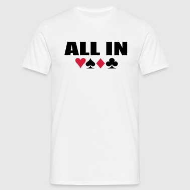 All IN Poker - T-shirt Homme