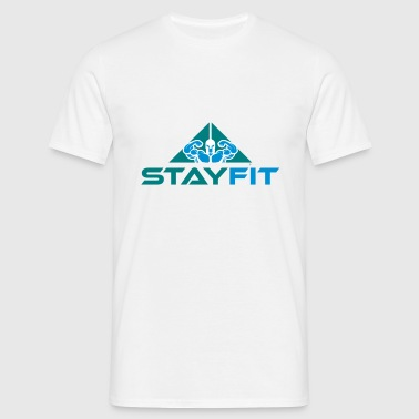 003 Stay Fit - Herre-T-shirt