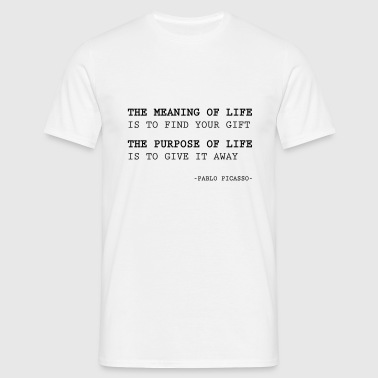 The meaning of life - Men's T-Shirt