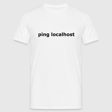 ping localhost - nerd - admin - T-shirt Homme
