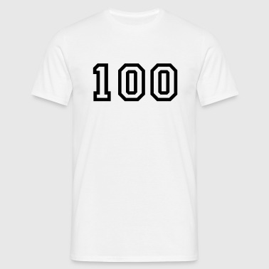 Number - 1 - One Hundred - Men's T-Shirt