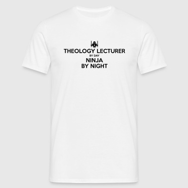 theology lecturer day ninja by night - Men's T-Shirt