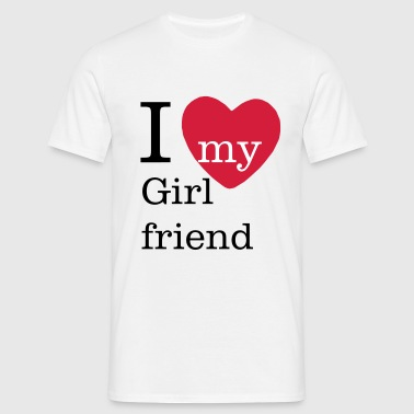 I Love my Girlfriend - Valentinstag - Männer T-Shirt