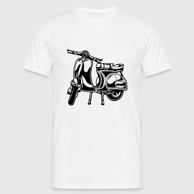 Scooter 01_black - Men's T-Shirt