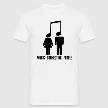 Music Connecting People - Maglietta da uomo
