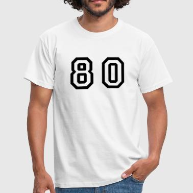 Number - 80 - Eighty - Men's T-Shirt