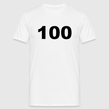 Number - 100 – One Hundred - Men's T-Shirt
