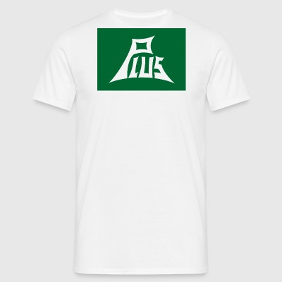 Plus green white - Men's T-Shirt