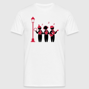 Choir singing Christmas - Men's T-Shirt