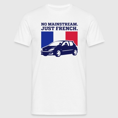 NO MAINSTREAM JUST FRENCH - Men's T-Shirt