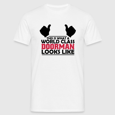 world class doorman - Men's T-Shirt