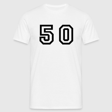 Number - 50 - Fifty - Men's T-Shirt