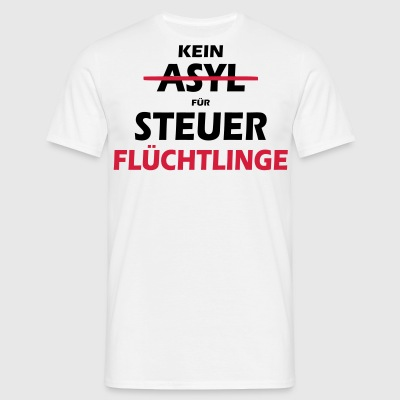 INGEN ASYL FOR skat dodgers - SIMPLE - Herre-T-shirt