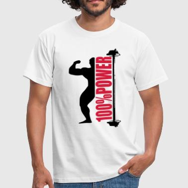 100% power - Männer T-Shirt