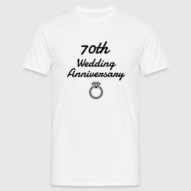 70 - Birthday Wedding - Marriage - Love - Mannen T-shirt