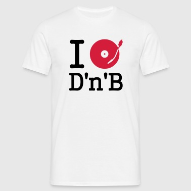 i dj / play / listen to drum and bass - T-shirt Homme