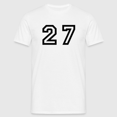 Number - 27 - Twenty Seven - Men's T-Shirt
