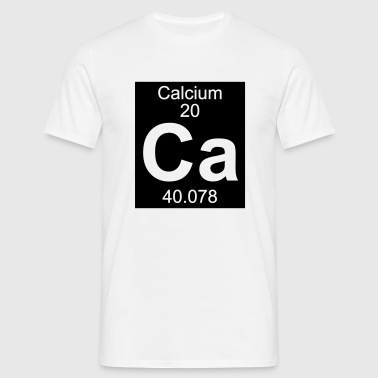 Element  20 - ca (calcium) - Inverse (Full) - Camiseta hombre