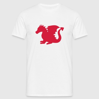 Baby Dragon Silhouette - Men's T-Shirt