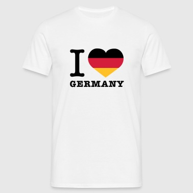 I love Germany | Herz | Heart - Men's T-Shirt