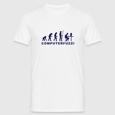 evolution_computerfuzzi - Männer T-Shirt
