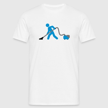 vacuuming_boy T-shirts - Mannen T-shirt