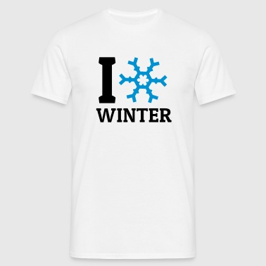 I love Winter - Männer T-Shirt