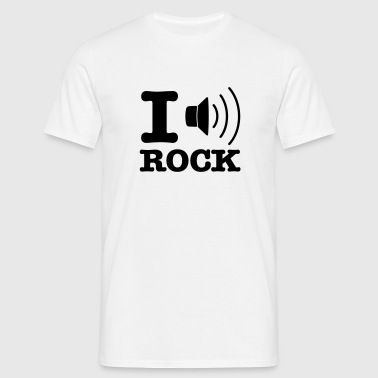 i music rock / I love rock - Männer T-Shirt