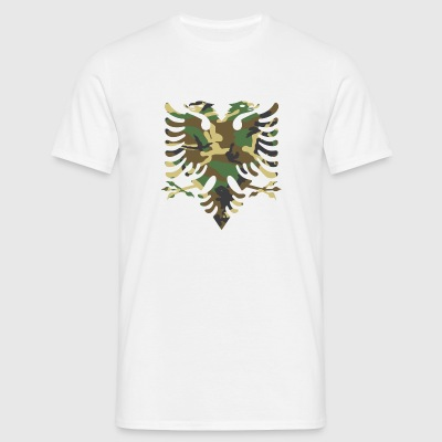 Albanian flag Camouflage Wood - Men's T-Shirt