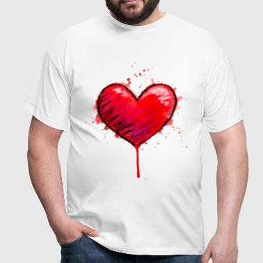 Coeur Messy - T-shirt Homme