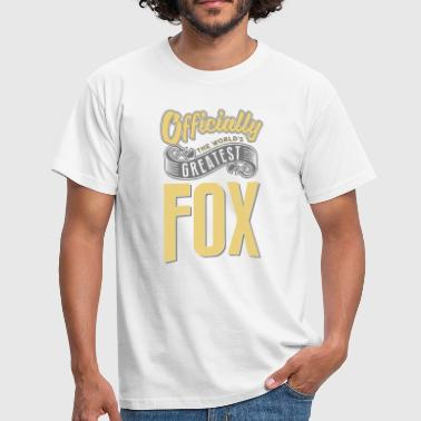 Officially the worlds greatest fox - Men's T-Shirt