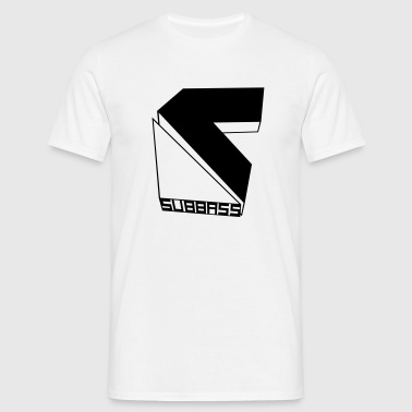 SUBBASS DUBSTEP LABEL LOGO - Männer T-Shirt