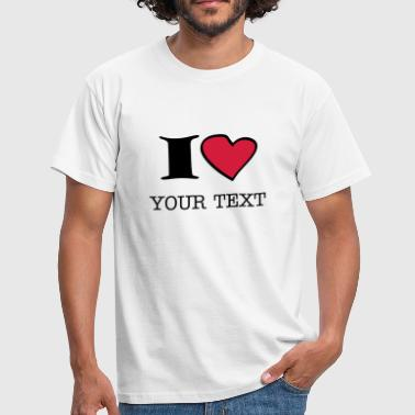 I Love i_love_2c - Men's T-Shirt
