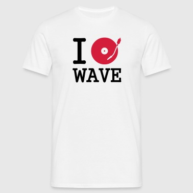 I dj / play / listen to wave - Männer T-Shirt