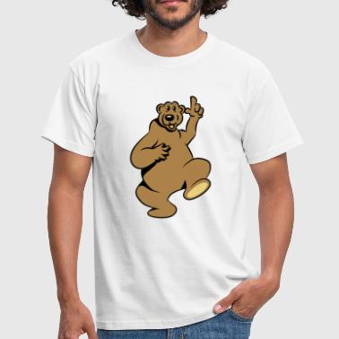 Bear happy funny - Men's T-Shirt